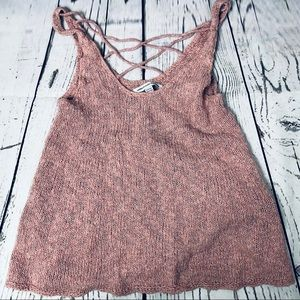 American Eagle Knit Sweater Tank Top Strappy Back